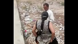 Aunty fucking on road