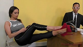 Teenage Brat Ashley Adams Foot Worship